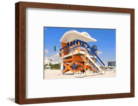 Lifeguard Hut South Beach FL--Framed Art Print