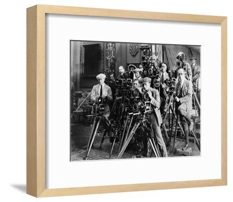 Photographers Taking Picture--Framed Art Print