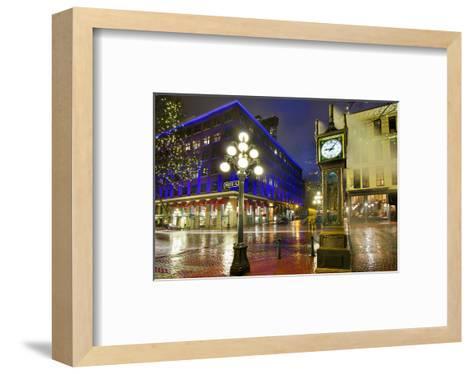 Gastown Steam Clock Vancouver--Framed Art Print