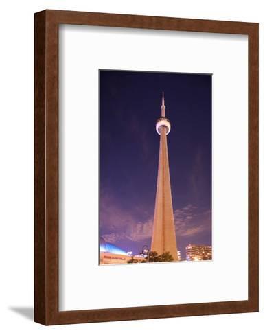 Towering CN Tower At Night--Framed Art Print