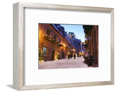 Chateau Frontenac Quebec City--Framed Art Print