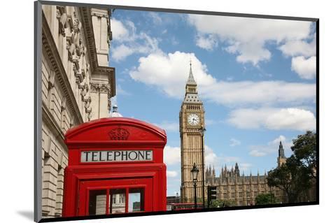 London Big Ben & Phone Booth--Mounted Art Print
