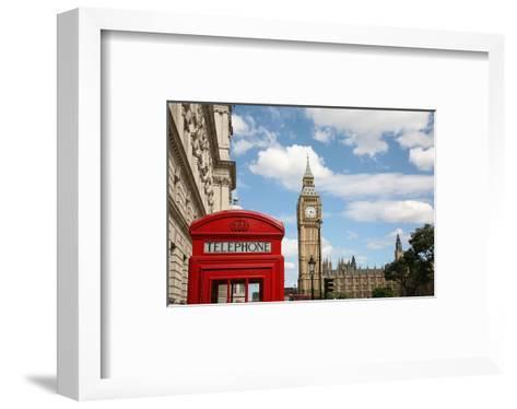 London Big Ben & Phone Booth--Framed Art Print
