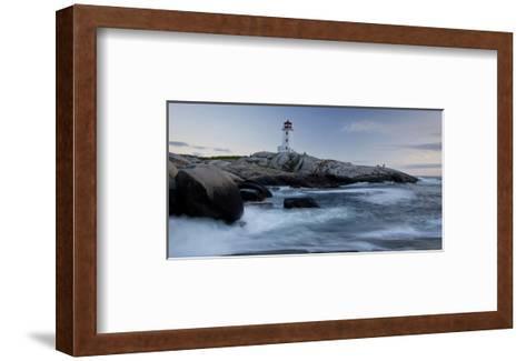 Peggys Cove Lighthouse Sunset--Framed Art Print
