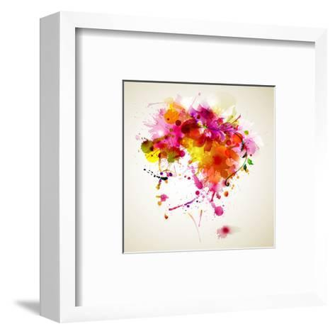 Woman with Abstract HairDesign--Framed Art Print