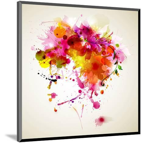 Woman with Abstract HairDesign--Mounted Art Print