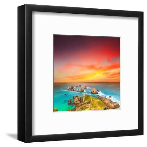 Nugget Point Coast at Sunset--Framed Art Print