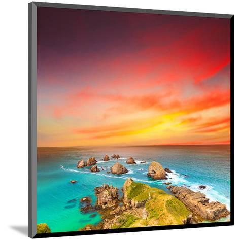 Nugget Point Coast at Sunset--Mounted Art Print