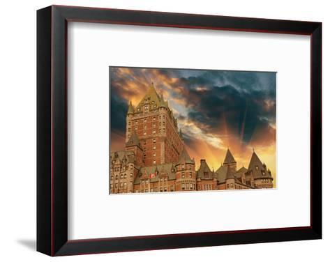 Chateau Frontenac Quebec City--Framed Art Print