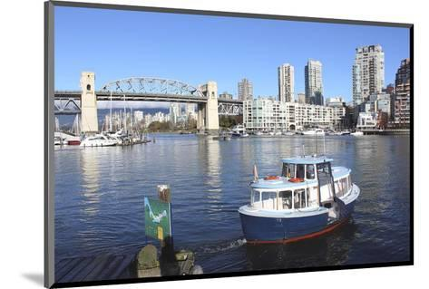 Vancouver's False Creek Ferry--Mounted Art Print