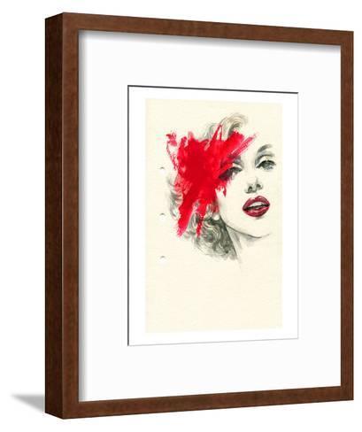 Woman Face PaintedIllustration--Framed Art Print