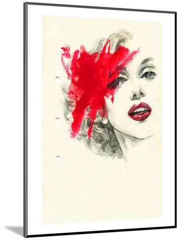 Woman Face PaintedIllustration--Mounted Art Print