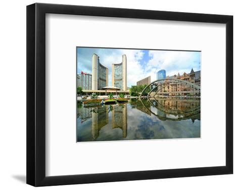City Hall Of Toronto--Framed Art Print