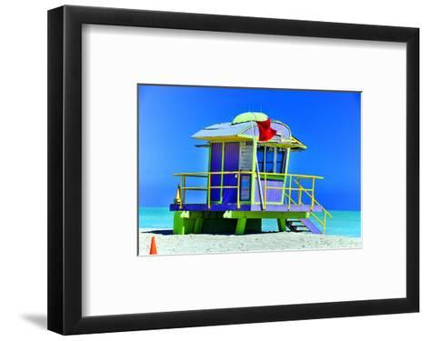 Lifeguard Station Miami Beach--Framed Art Print