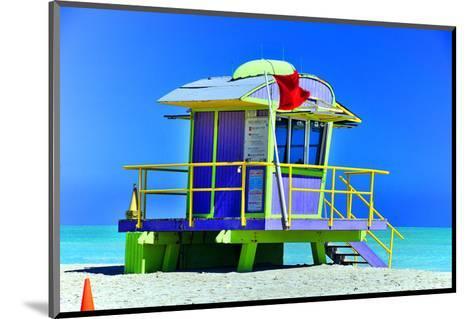 Lifeguard Station Miami Beach--Mounted Art Print