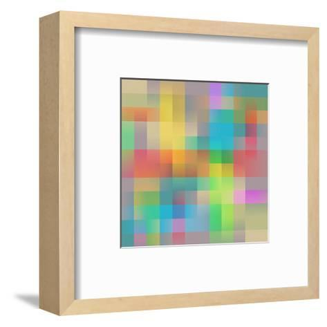 Colored Squares Background--Framed Art Print