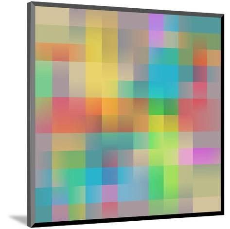 Colored Squares Background--Mounted Art Print