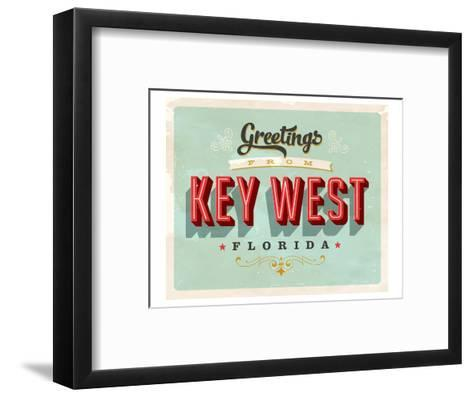 Welcome To Key West--Framed Art Print