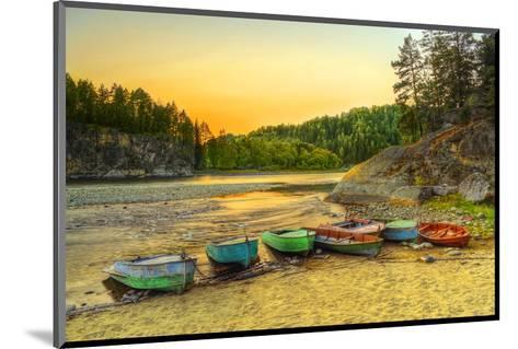 Biya River at Turochak Russia--Mounted Art Print