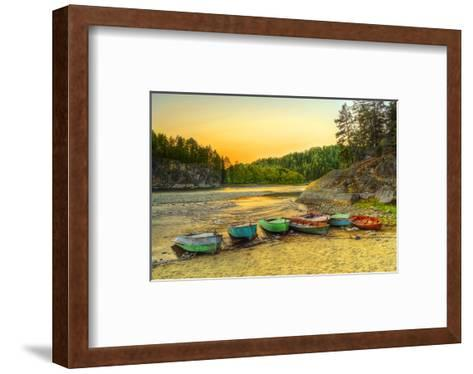 Biya River at Turochak Russia--Framed Art Print