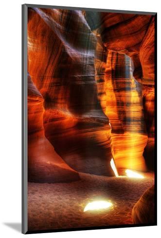 Rays Antelope Canyon Page AZ--Mounted Art Print