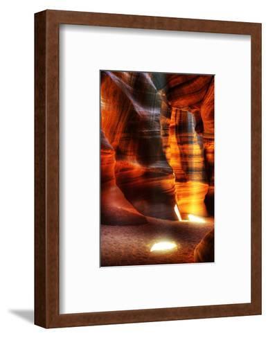 Rays Antelope Canyon Page AZ--Framed Art Print