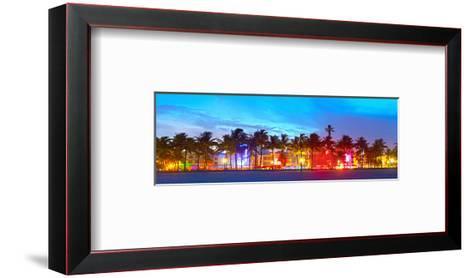 Miami Beach Sunset Ocean Drive--Framed Art Print