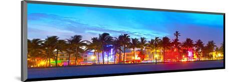 Miami Beach Sunset Ocean Drive--Mounted Art Print