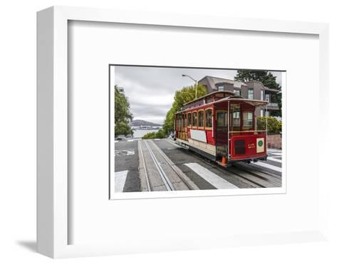 Cable Car in San Francisco--Framed Art Print