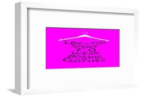 Purple Dress of Words--Framed Art Print