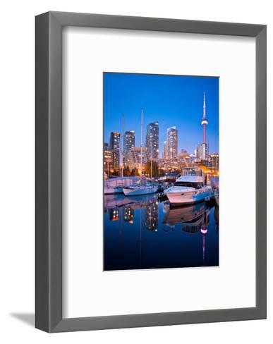 Toronto Harbor Area at Dusk--Framed Art Print