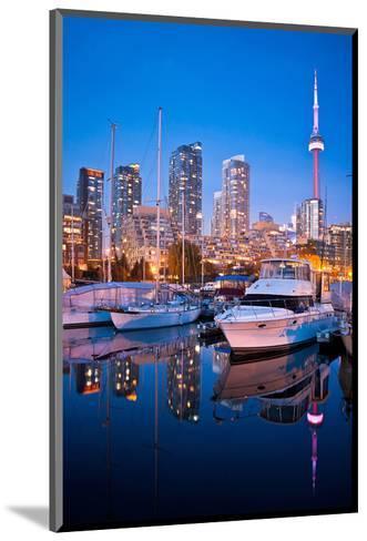 Toronto Harbor Area at Dusk--Mounted Art Print