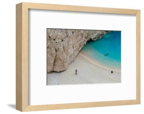 Swimming in Turquoise Waters--Framed Art Print
