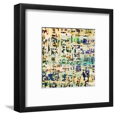 Contemporary Collage Newspaper--Framed Art Print