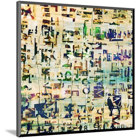 Contemporary Collage Newspaper--Mounted Art Print