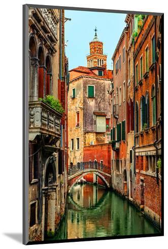 Romantic Green Venice Canal--Mounted Art Print