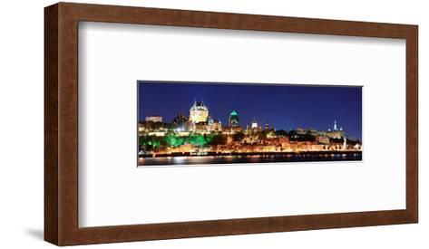 Quebec City Skyline at Dusk--Framed Art Print