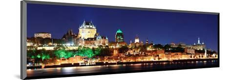 Quebec City Skyline at Dusk--Mounted Art Print