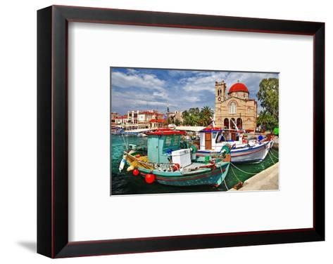 Idyllic Greek Island Aegina--Framed Art Print