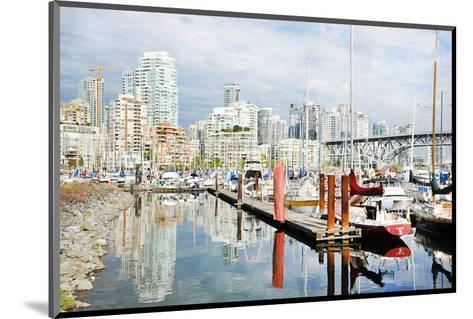 Granville Isld Harbor Vancouver--Mounted Art Print
