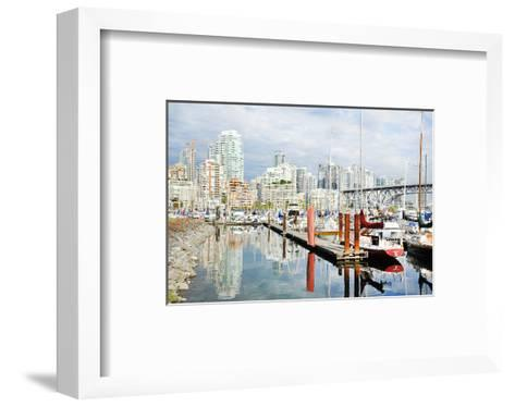 Granville Isld Harbor Vancouver--Framed Art Print