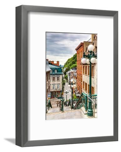 Historic District Old Quebec--Framed Art Print