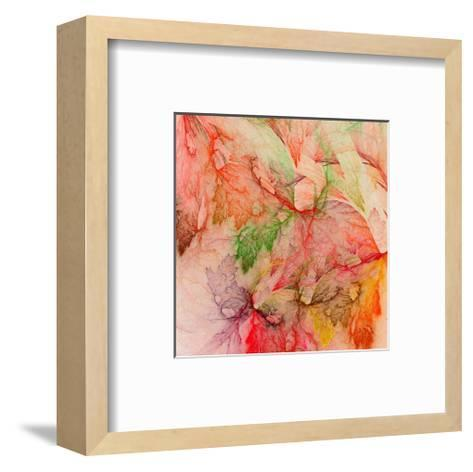 Colorful Abstract Leaf Collage--Framed Art Print