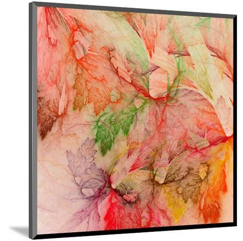 Colorful Abstract Leaf Collage--Mounted Art Print