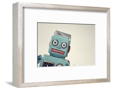 Vintage Tin Toy Robot II--Framed Art Print