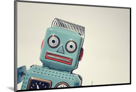 Vintage Tin Toy Robot II--Mounted Art Print