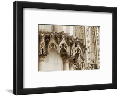 Gothic Cathedral Stone Detail--Framed Art Print
