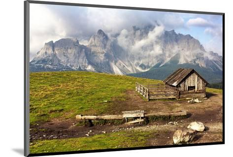 Dolomites With Chalet Italy--Mounted Art Print