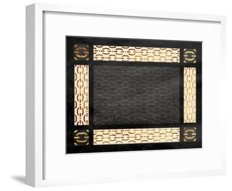 Chain Link Bordered Two-Jace Grey-Framed Art Print