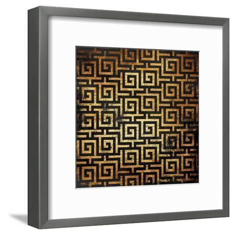 Golden Pattern-Jace Grey-Framed Art Print